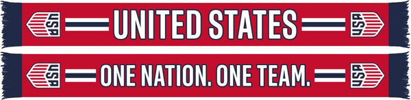 US SOCCER SCARF - Red One Nation One Team - Ruffneck Scarves - 1