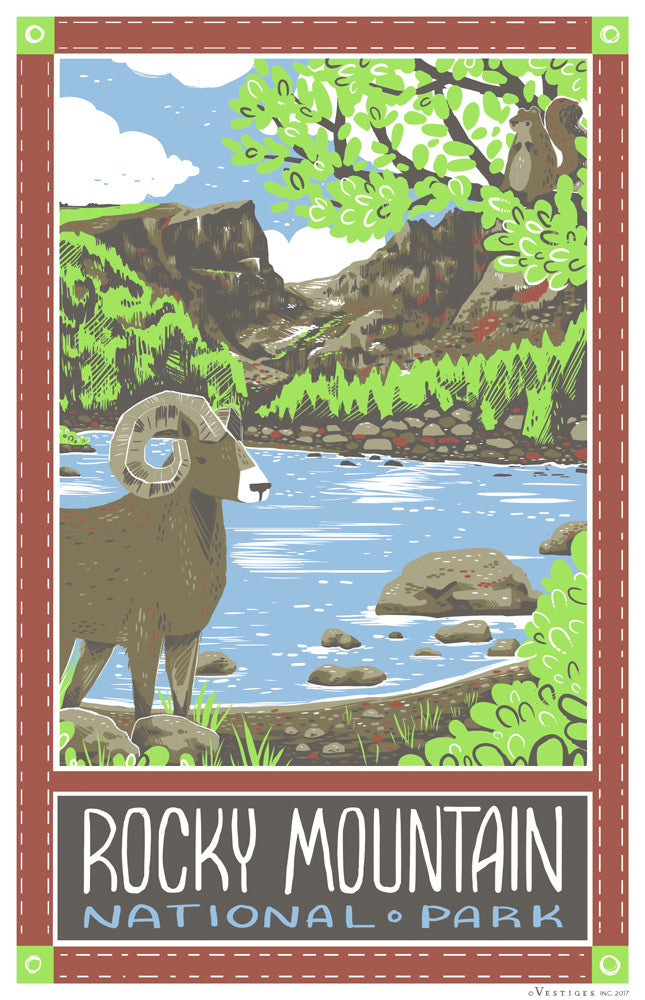 Rocky Mountain National Park Region Kitchen Towel