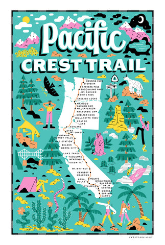 Pacific Crest Trail Region Kitchen Towel