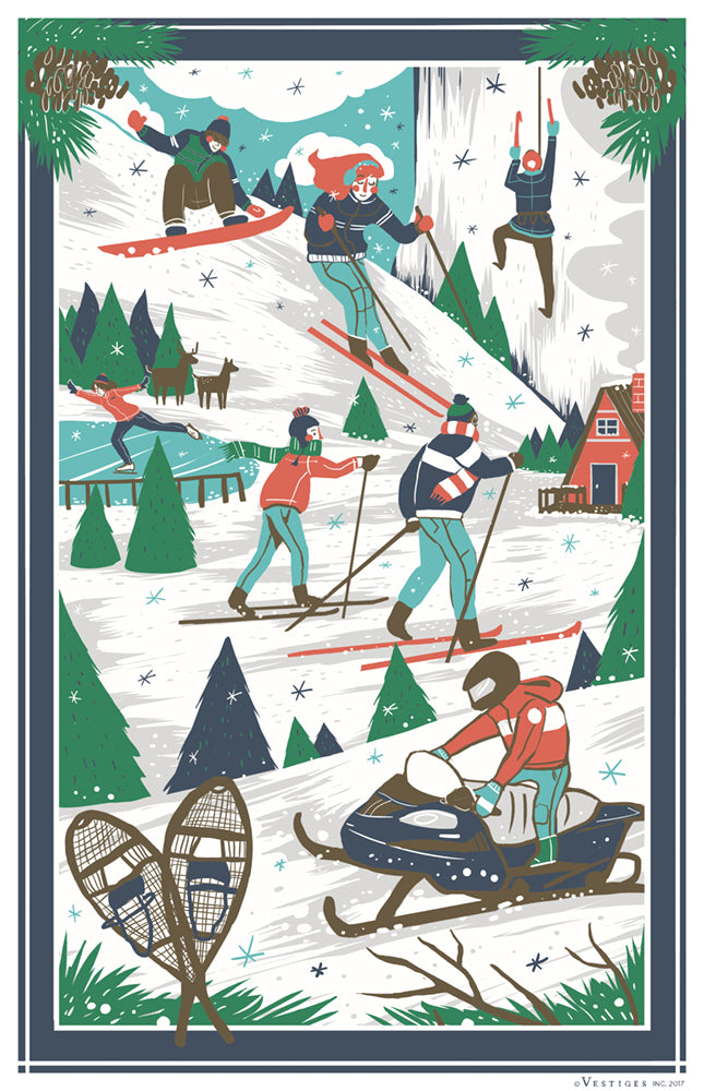 Winter Scenes Region Kitchen Towel