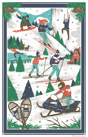 A new towel Winter Scenes Region Kitchen Towel