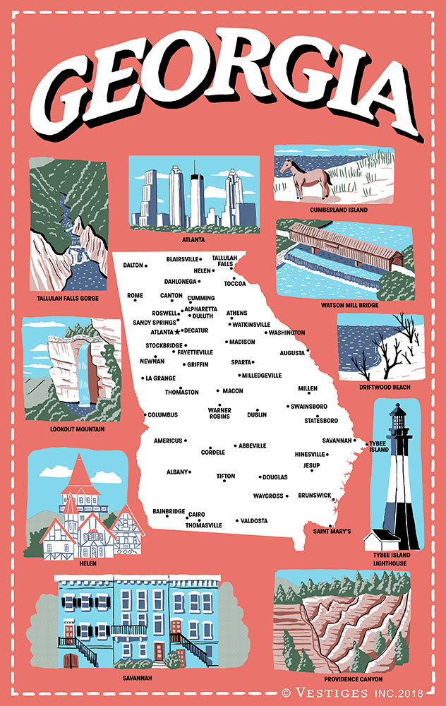 Georgia Icons Kitchen Towel