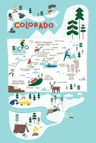 Colorado Icons Kitchen Towel