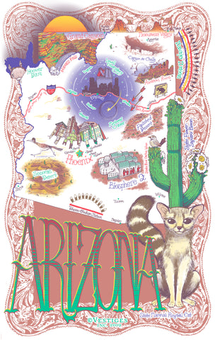 Arizona Icons Kitchen Towel