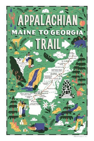 Appalachian Trail Region Kitchen Towel