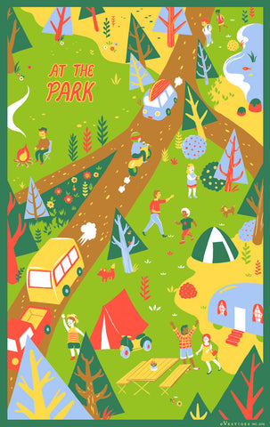 At The Park Region Kitchen Towel