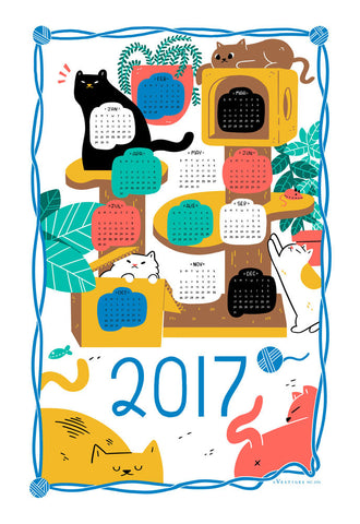 Calendar 2017 Kitchen Towel
