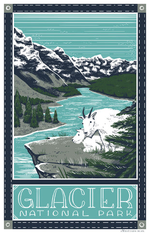 Glacier National Park Region Kitchen Towel
