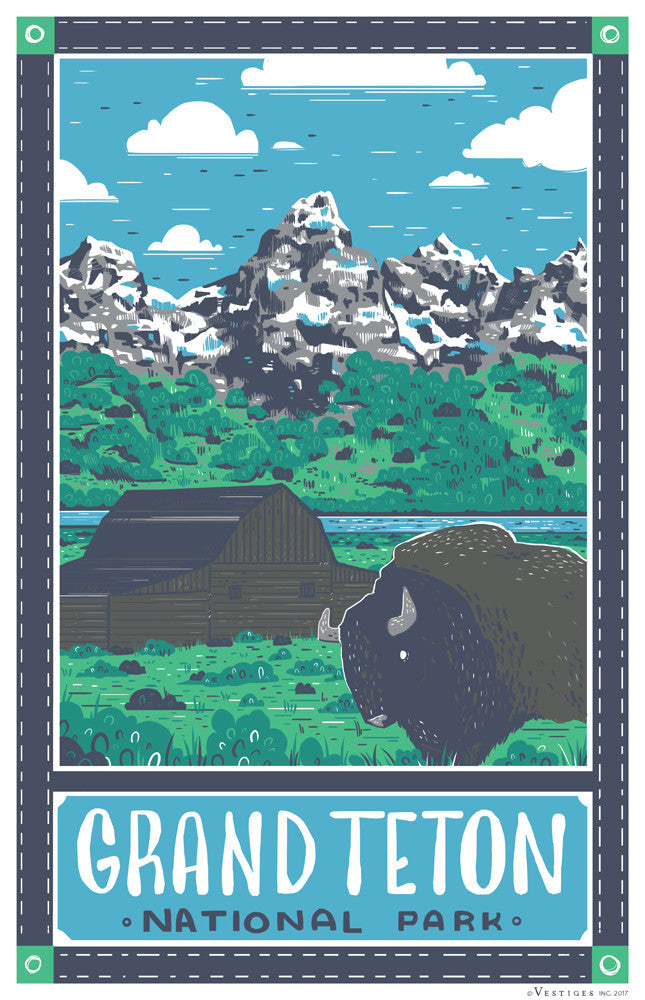 Grand Teton National Park Region Kitchen Towel