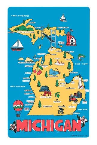 Michigan Icons Kitchen towel