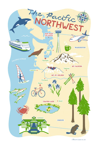 Pacific Northwest Region Kitchen Towel