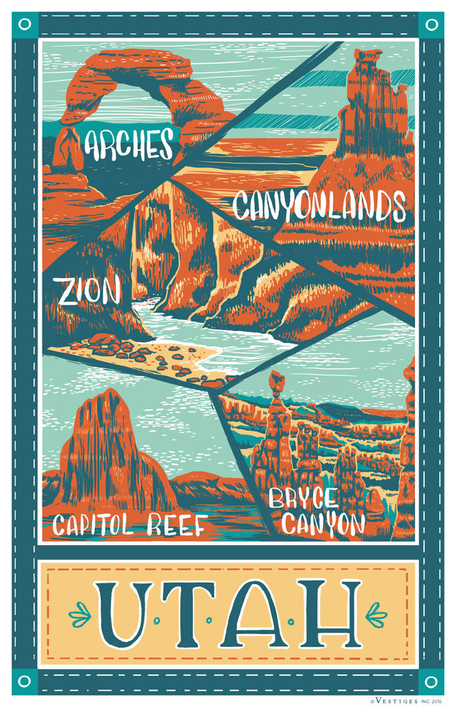 Utah Parks Region Kitchen Towels