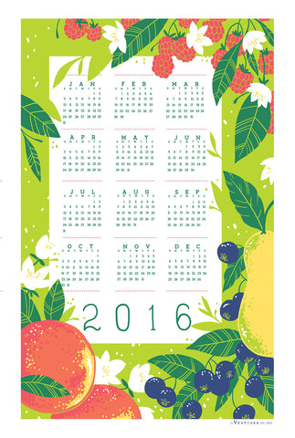 Calendar 2016 Kitchen Towel