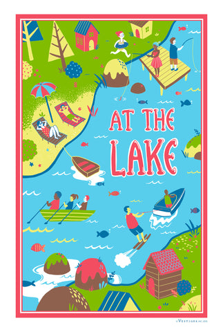 At the Lake Region Kitchen Towel