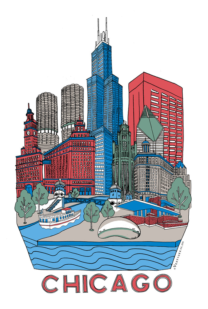 Chicago City Kitchen Towel