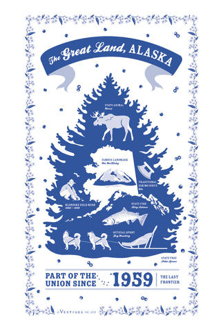 Alaska State Kitchen Towel