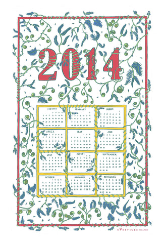 Calendar 2014 Kitchen Towel