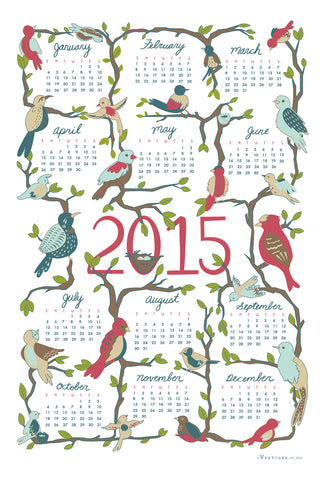 Calendar 2015 Kitchen Towel