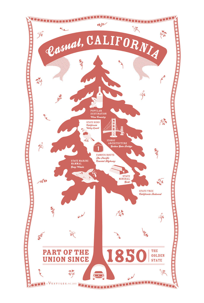 California State Kitchen Towel