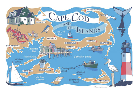 Cape Cod Region Kitchen Towel