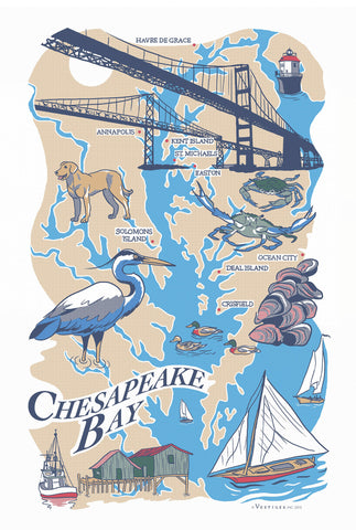 Chesapeake Bay Region Kitchen Towel