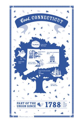 Connecticut State Kitchen Towel