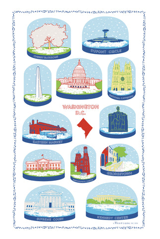 D.C. Snow Globe Kitchen Towel