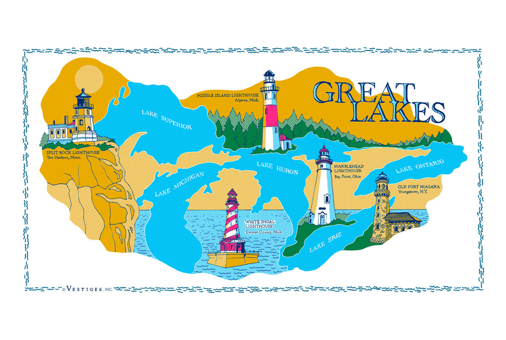 Great Lakes Region Kitchen Towel