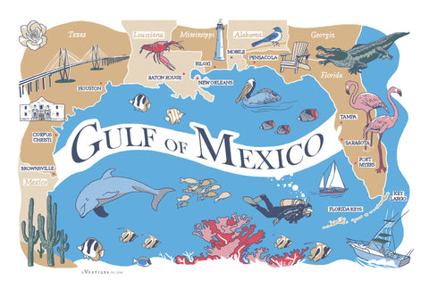 Gulf of Mexico Region Kitchen Towel