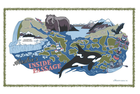 Inside Passage Region Kitchen Towel