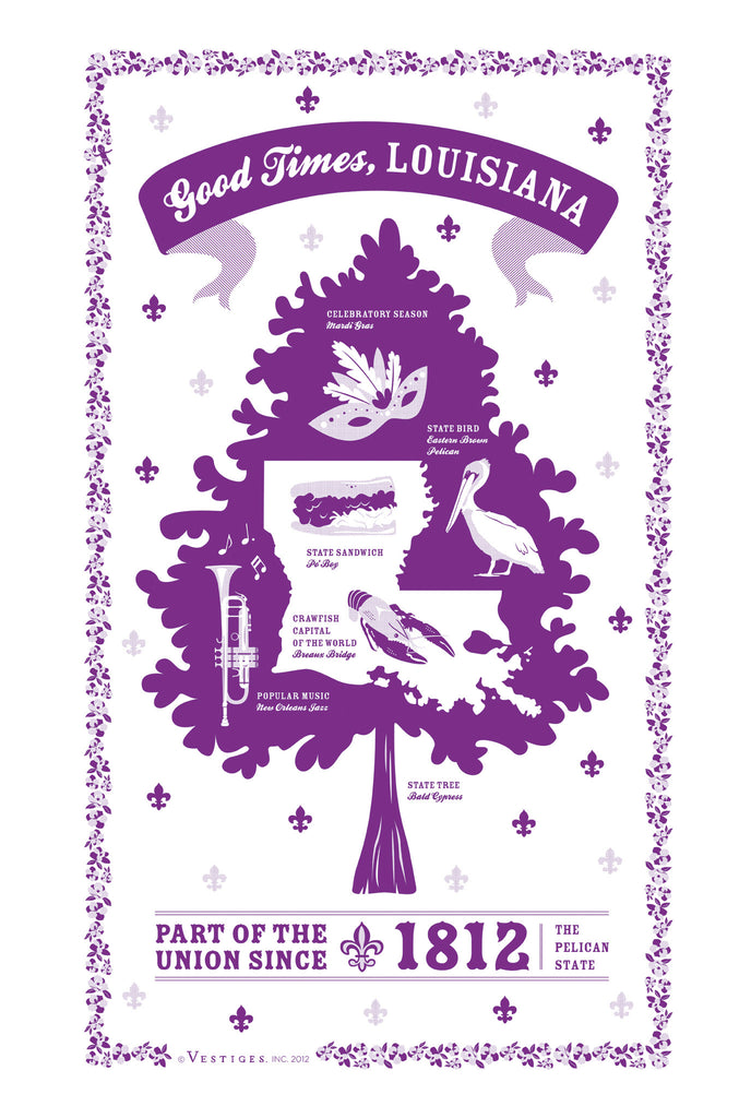 Louisiana State Kitchen Towel