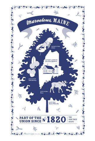 Maine State Kitchen Towel