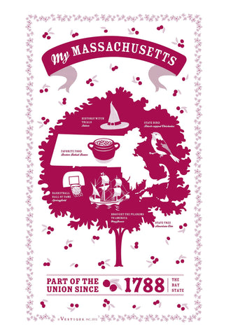 Massachusetts State Kitchen Towel