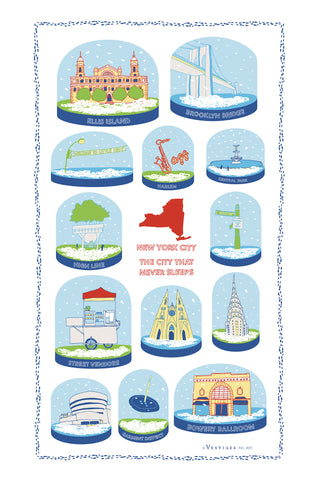New York City Snow Globe Kitchen Towel