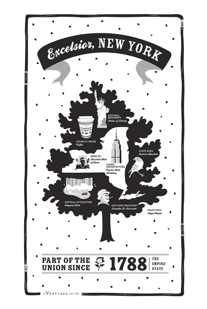 New York State Kitchen Towel