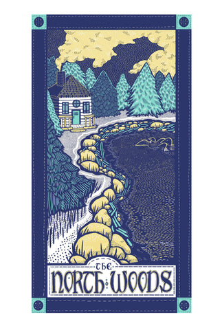 North Woods Region Kitchen Towel