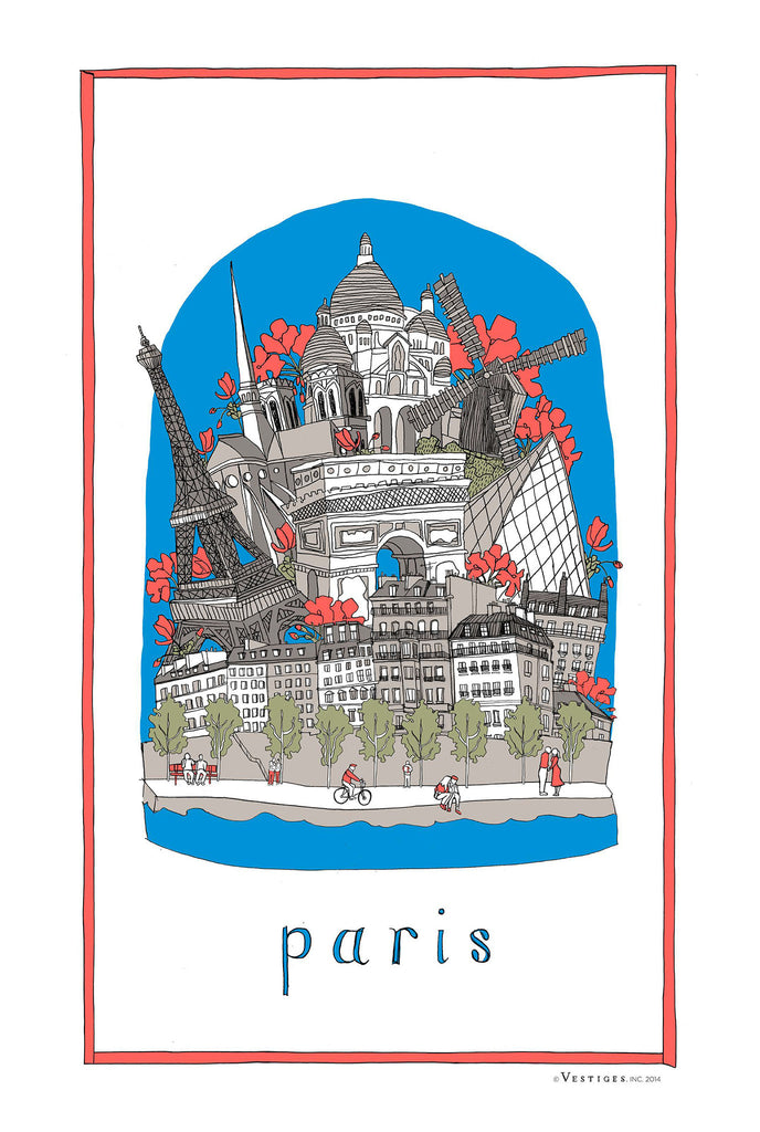 Paris City Kitchen Towel
