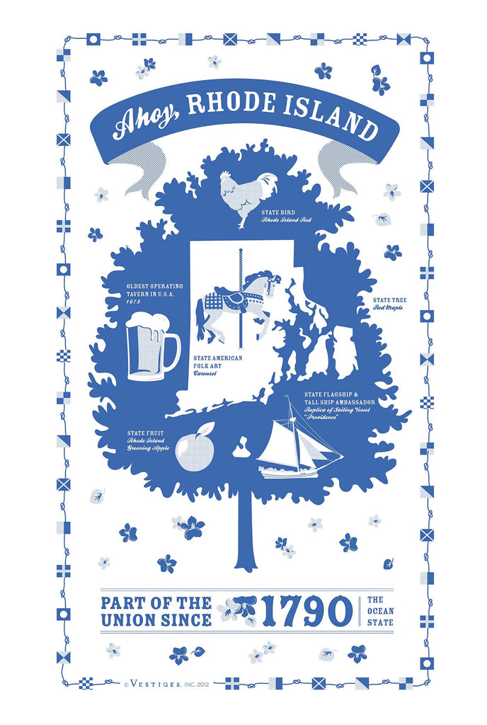 Rhode Island State Kitchen Towel