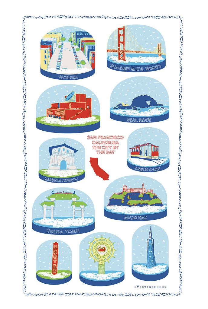 San Francisco Snow Globe Kitchen Towel