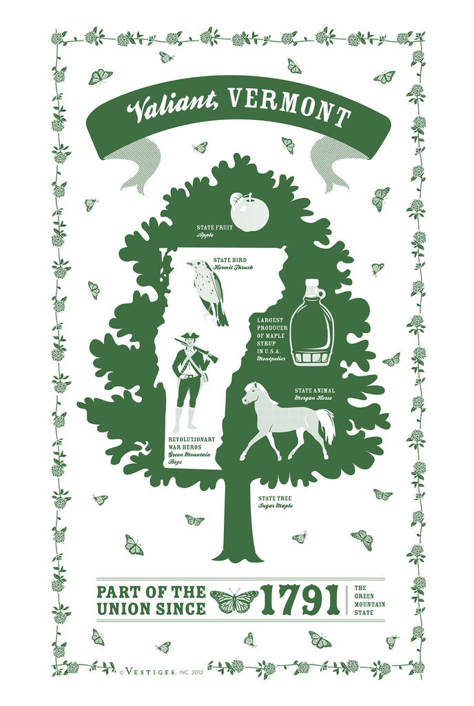 Vermont State Kitchen Towel