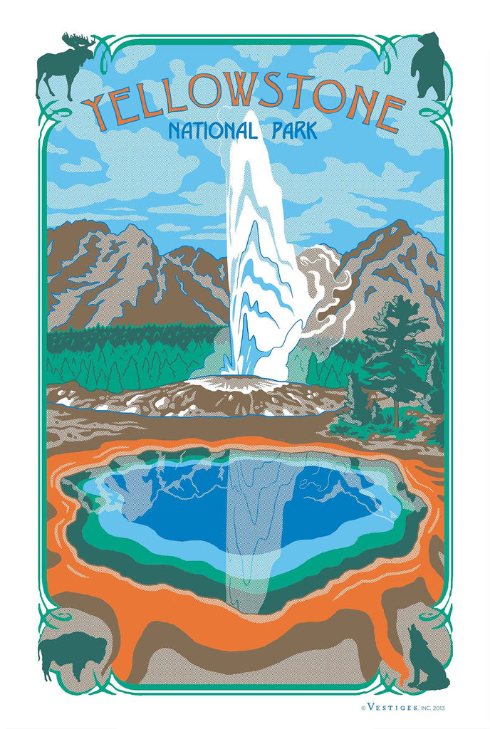 Yellowstone Region Kirtchen Towel