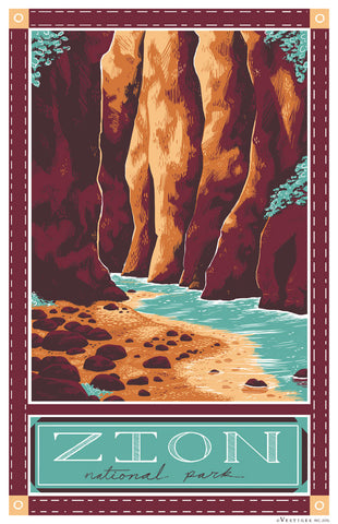 Zion National Park Region Kitchen Towel