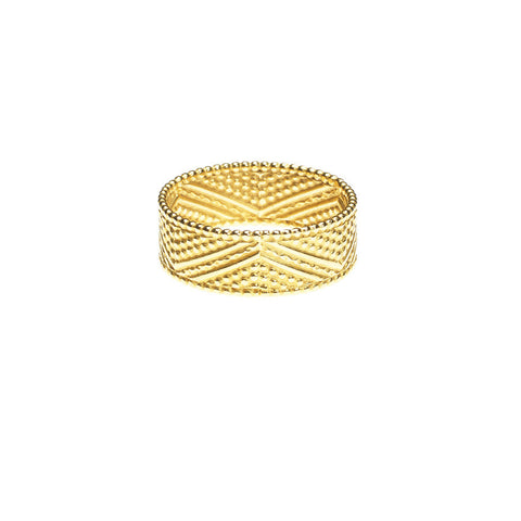 Brave Heart Warrior Chevron ring in gold.