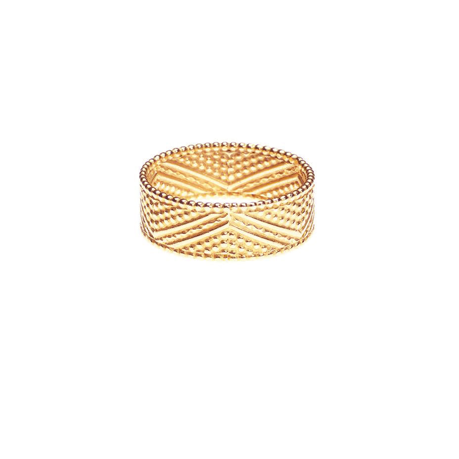 Brave Heart Warrior Chevron Ring - Rose Gold