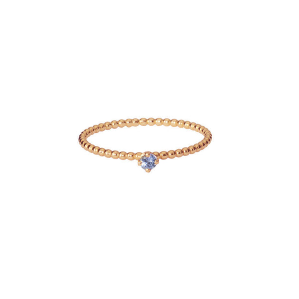 Forget-Me-Not Sapphire ring in rose gold.