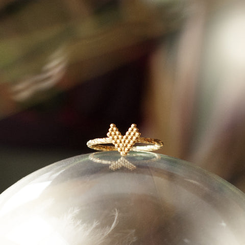 Chevron Arrow Head Pinky/Middy Ring - Gold