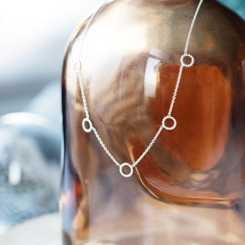 Five Circle Necklace - Silver