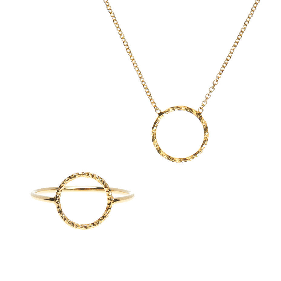 Braveheart Protective Circle gift set, featuring the Protective Circle necklace and ring.