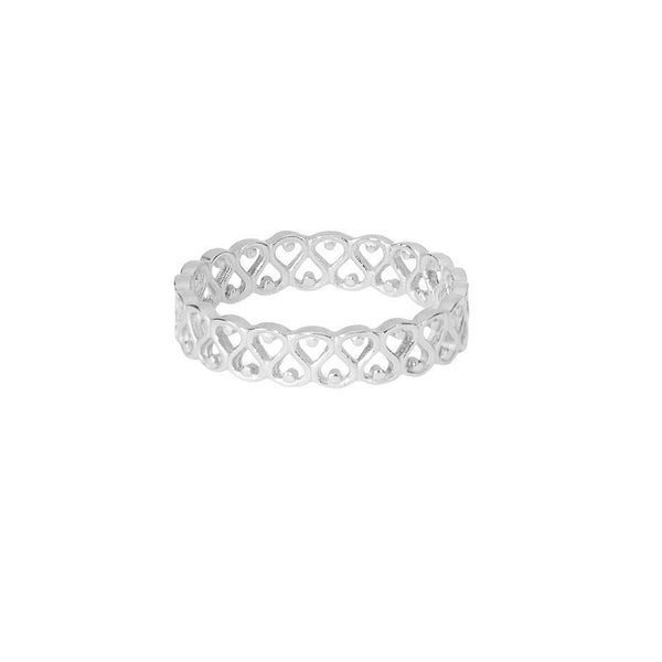 Elizabethan ring in silver, inspired by the ruffled collars of noble attire.