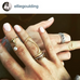 Ellie Goulding wearing the Double Strength Chain ring in gold